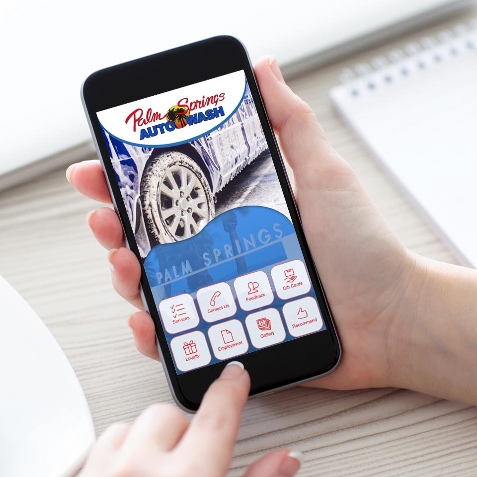 Download the Palm Springs Car Wash Loyalty App